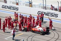 SOTCHI, RUSLAND - JULI 31, 2016: Kuileinde van Formule 1 auto in Fer Royalty-vrije Stock Fotografie