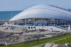 Sotchi, Rusland - September 24: Voetbalstadion Fischt bij het Park die voor de Wereldbeker 2018 op 24 September, 2016 voorbereidi Stock Foto's