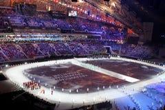 SOTCHI, RUSSIE - 7 FÉVRIER 2014 : Défilé des nations (défilé d'a Photo libre de droits