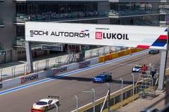 SOTCHI, RUSSIE - 31 JUILLET 2016 : Jours de emballage de Ferrari en Au de Sotchi Photographie stock libre de droits
