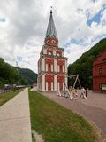 Sotchi - Russisch Feseration - Juli 24, 2017 - Cultuur Etnografisch Centrum Mijn Rusland stock afbeeldingen