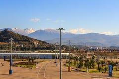 Sotchi Stationnement olympique Équipements et attractions Photographie stock