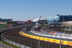 Sotchi Stationnement olympique Équipements et attractions Image stock