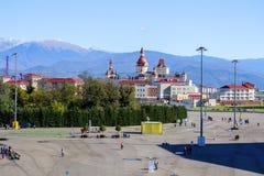 Sotchi Stationnement olympique Équipements et attractions Photos stock