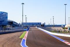 Sotchi Stationnement olympique Formule de circuit Images stock