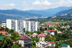 Sotchi, un horizontal de ville image stock