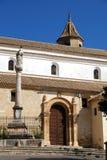 Soterrano kościół, Aguilar de los angeles Frontera Fotografia Stock