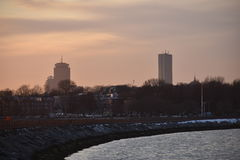 Sothie för ö för Boston solnedgångslott Arkivfoto
