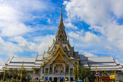 Sothorn寺庙在Chachoengsao泰国 库存照片