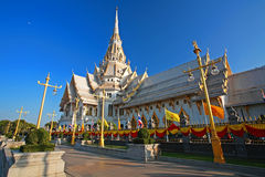 Sothorn Temple in Chachoengsao. Sothorn Temple, landmark of Chachoengsao province, Thailand Stock Image