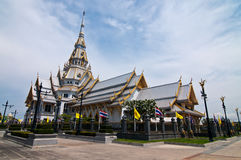 Sothorn Temple at Chachoengsao province Royalty Free Stock Photo