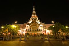 Sothorn temple in night Royalty Free Stock Photo
