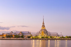 Sothorn temple on twilight Royalty Free Stock Images