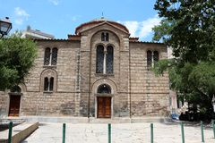 Sotira Lykodimou (Russian Orthodox Church) in Athens Royalty Free Stock Image