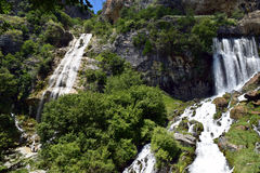 Sotira Waterfalls, famous natural tourist attraction in Albania Stock Image