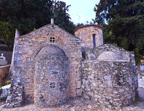 Sotiras Christos. Church in Eleftherna near Eleftherna, Crete, Greece Royalty Free Stock Photo