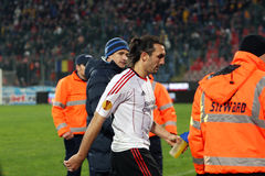 Sotiris Kyriakos. Playing for Liverpool; Steaua - Liverpool match; Europa League stock photo