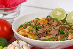 Soto betawi. Indonesian cuisine Indonesian neat soup stock image
