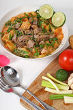Soto betawi. Indonesian cuisine Indonesian neat soup royalty free stock photo
