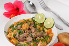 Soto betawi. Indonesian cuisine, Indonesian neat soup royalty free stock photos