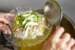 Soto Indonesian chicken soup Royalty Free Stock Images