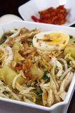 Soto Indonesian Cuisine. Indonesian chicken noodle soup called soto Royalty Free Stock Photo