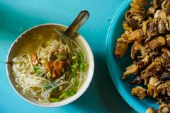 Soto is a traditional Indonesian soup from Indonesia. Soto is a traditional Indonesian soup with a wide range of variations stock photo