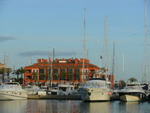 Sotogrande view of the marina and apartments Royalty Free Stock Images