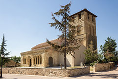 Sotosalbos, Segovia. Romanesque church of San Miguel of Sotosalbos, Segovia, Spain royalty free stock photography