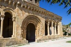 Sotosalbos, Segovia. Romanesque portal of San Miguel, Sotosalbos, Segovia, Spain Stock Photography