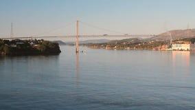 Sotra-Brücke ` Hängebrücke ` Bergen, Norwegen stock video footage
