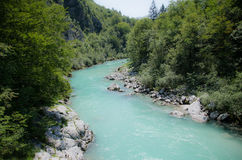 Sotscha. The beautiful soca in slovenia Stock Images
