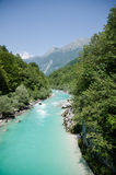 Sotscha. The beautiful soca in slovenia Stock Photography