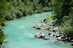 Sotscha. The beautiful soca in slovenia Stock Photos