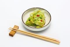 Sottaceti del cavolo cinese Fotografie Stock Libere da Diritti