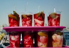 Sottaceti turchi tradizionali di varie frutta e verdure Fotografia Stock