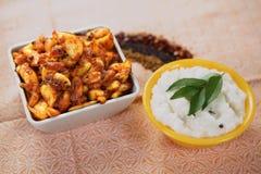 Sottaceto dell'aglio/Poondu Oorukai immagine stock libera da diritti
