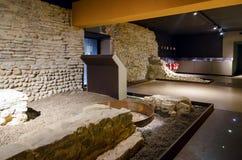 Sotterranea της Alba, υπόγεια archeological περιοχή στη Alba Ιταλία Στοκ εικόνα με δικαίωμα ελεύθερης χρήσης