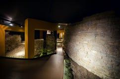 Sotterranea της Alba, υπόγεια archeological περιοχή στη Alba Ιταλία Στοκ Εικόνες