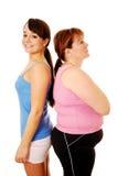 Sottile e grasso Fotografie Stock Libere da Diritti