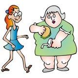 Sottile e grasso Immagine Stock