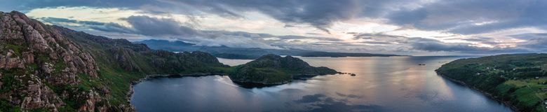 Sottish Bay. Panorama of a Scottish Cove in he highlands Stock Photo