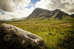 Sottish wilderness. The mountains of glencoe in scotland Royalty Free Stock Photo