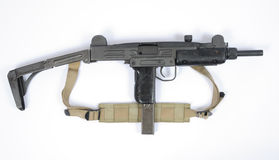 Sotto azione UZI israeliane della mitragliatrice estese Fotografie Stock Libere da Diritti