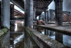 Sotto i ponti Fotografia Stock