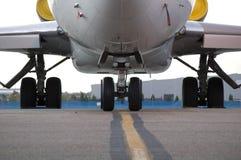 Sotto il carrello di grande jet Fotografia Stock Libera da Diritti