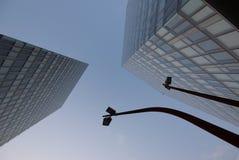 Sotto il cielo di affari Immagine Stock