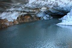 Sotto il ghiacciaio Fotografia Stock