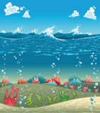 Sotto il mare. Fotografie Stock Libere da Diritti