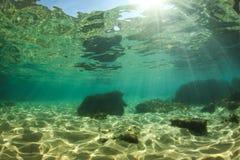 Sotto il mondo dell'acqua Fotografie Stock Libere da Diritti